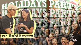 ROBILIEVERS Christmas party organised by my GIRLFRIEND | Robi Domingo