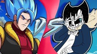 GOFFU vs SANDY! (Luffy & Goku vs Sans & Bendy) (CartoonHooligans vs Undertale AU) CARTOON FIGHT CLUB