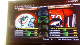 ESPN NFL 2K5 Broncos Custom Season Game 10:Denver Broncos V. Miami Dolphins