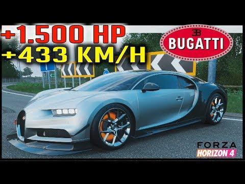 BUGATTI CHIRON 1500 CV 433 Km/h   FORZA HORIZON 4 thumbnail
