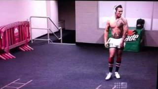 JWH busts a move in the changing room.