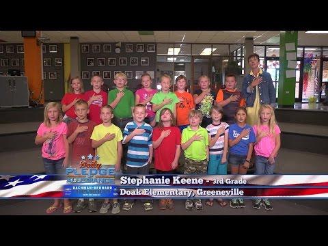 Daily Pledge of Allegiance: Stephanie Keene's 3rd grade class – Doak Elementary School