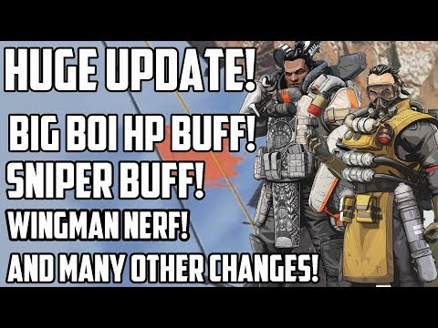 Huge New Apex Legends Balance Update - Caustic and Gibraltar HP Buff, Sniper Buff, Nerfs And More! thumbnail