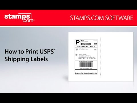 Stampscom how to print usps shipping labels youtube for How to print your own shipping labels