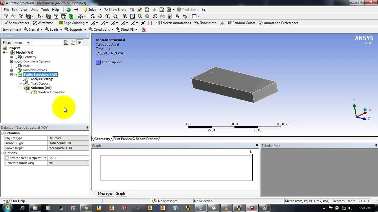 selecting and applying forces in nodes in Ansys Workbench