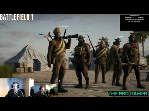 BATTLEFIELD 1 - LIVE STREAM - the BRO GAMER - 1080p 60FPS - HD - EPISODE 3