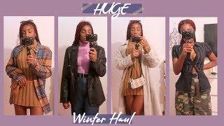 HUGE WINTER HAUL   THRIFT FINDS, SUSTAINABLE BRANDS + ASOS
