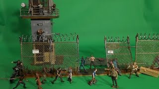 "The Walking Dead ""prison Tower And Gate"" By Mcfarlane Review"