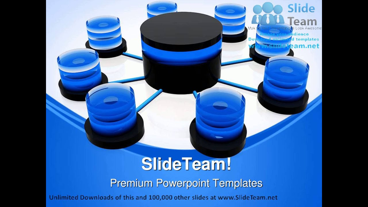 Database Structure Network Business Powerpoint Templates Themes And