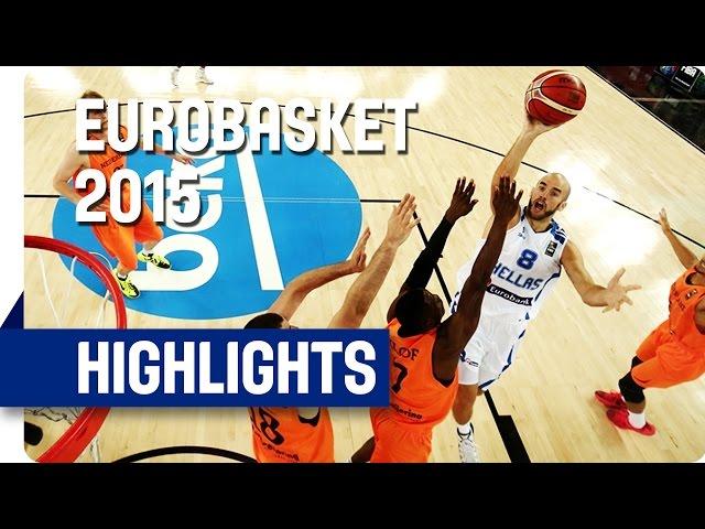 Ευρωμπάσκετ 2015 |  Ελλάδα-Ολλανδία 68-65 🏀 Video με στιγμιότυπα του αγώνα και οι δηλώσεις μετά τη νίκη.