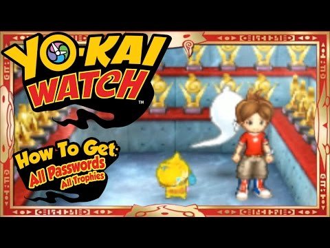 Yo-Kai Watch - How To Get ALL 55 U.S. Passwords + Trophies! [Tips & Tricks]