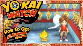 Yo-Kai Watch - How To Get ALL 55 U.S. Passwords + Trophies! [Tips & Tricks]