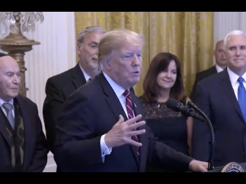 Trump SHOCKED after jewish Americans YELL 4 more Years at President Trump Hanukkah Speech