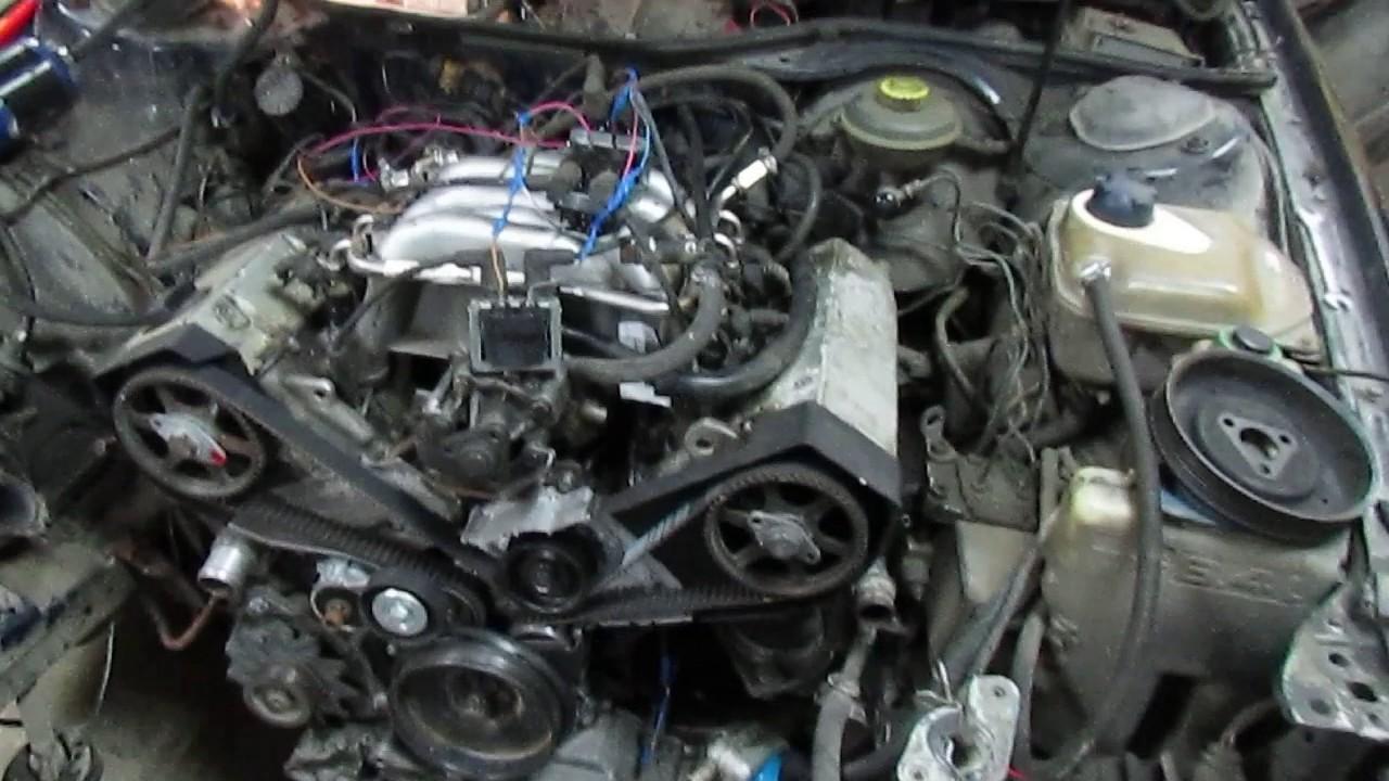 стук в двигателе на холодную audi 2.6
