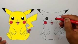 How to Draw Pikachu Step by Step   Pokemon Go