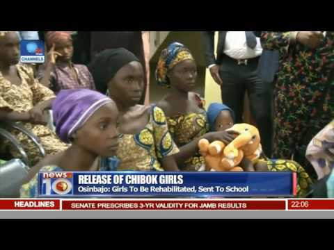 Release Of Chibok Girls: Security Service Hands Over Girls To VP