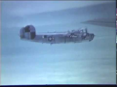 Rare WW2 Color Film of B-24 Liberators in Flight