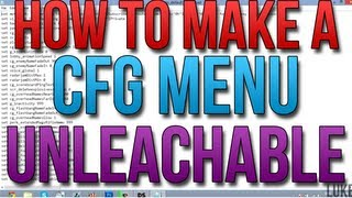 How To Make Your CFG Menu UNLEACHABLE (EASY)