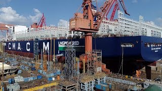 World's largest LNG-powered container ship debuts in Shanghai
