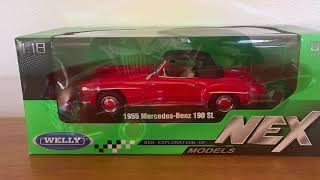 1955 Mercedes-Benz 190 SL by Welly 1:18
