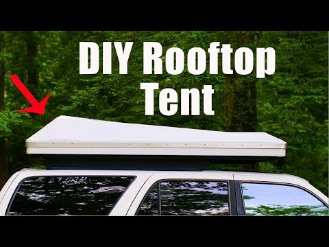 My DIY Rooftop Tent! The Finished Product!