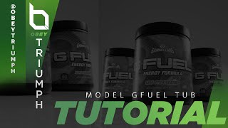 How to Model a GFuel Tub (Download in desc.) | Obey Triumph