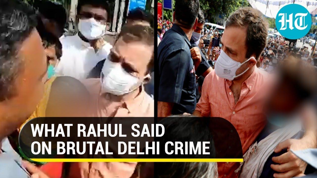Watch: Rahul Gandhi meets 9-yr-old 'rape-murder' victim's family in Delhi, promises justice