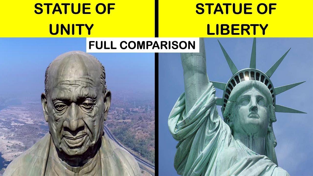 Download Statue of unity vs Statue of liberty Full Comparison UNBIASED in Hindi