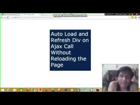 jQuery Auto Load and Refresh Div on Ajax Call Without