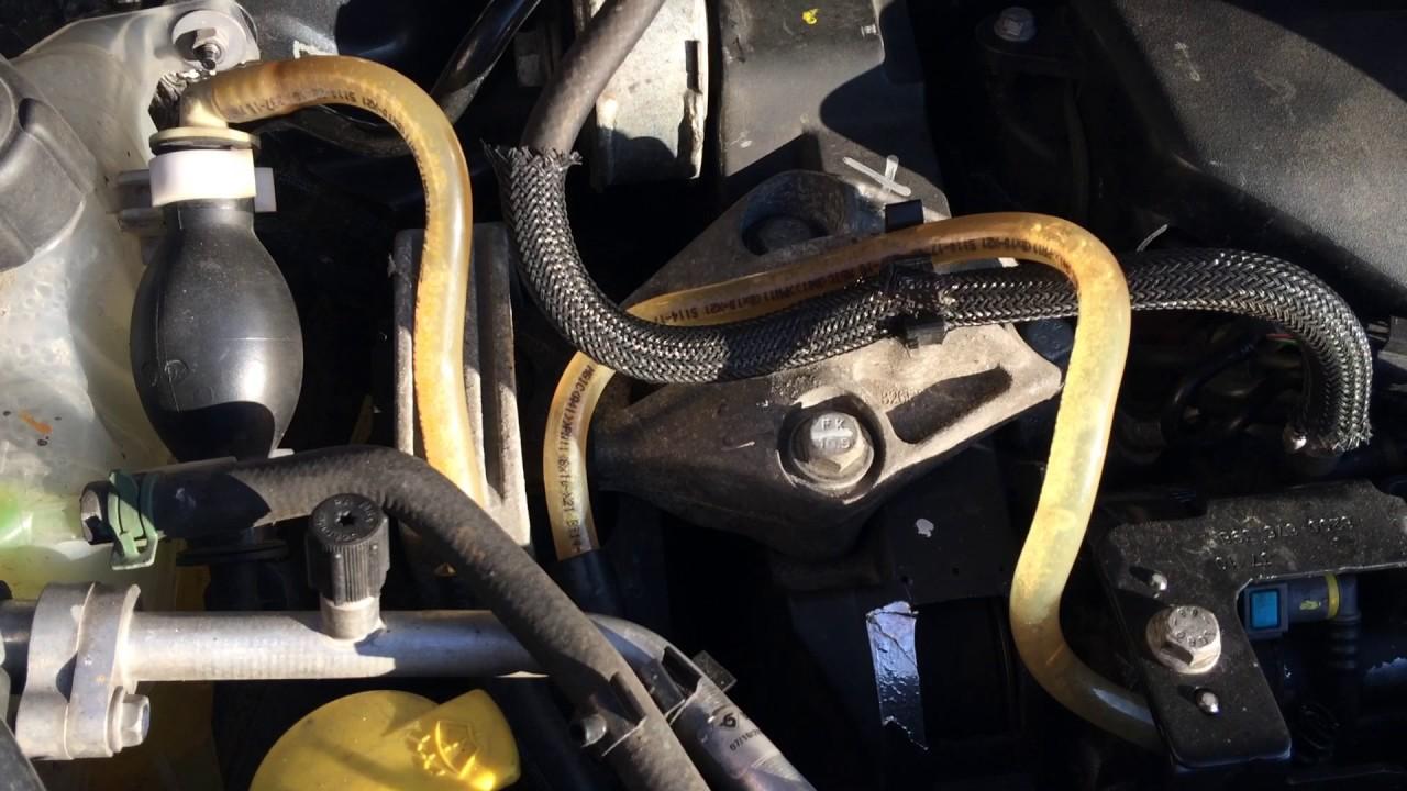 Воздух в топливной системе Renault Grand Scenic 3