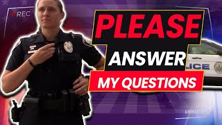 ***TUTORIAL ON HOW TO NOT ANSWER QUESTIONS BY POLICE*** -TRIGGERED FEMALE OFFICER