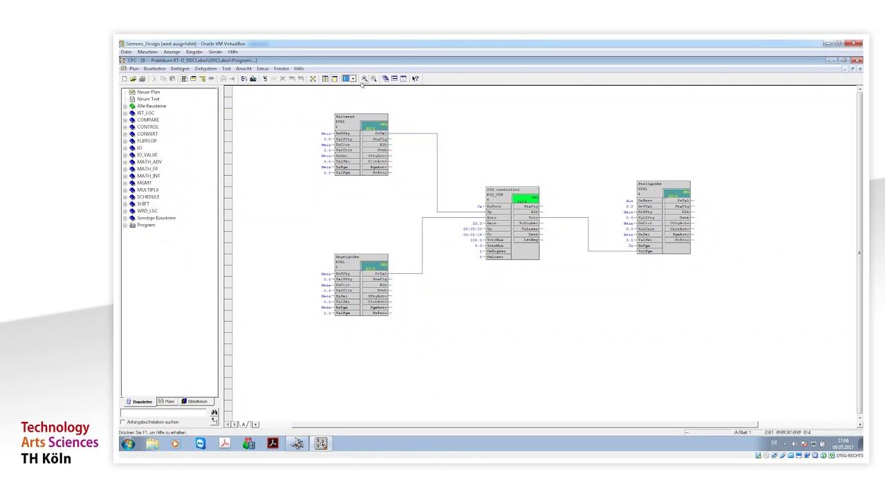 Programmieren mit Siemens CFC Monitor