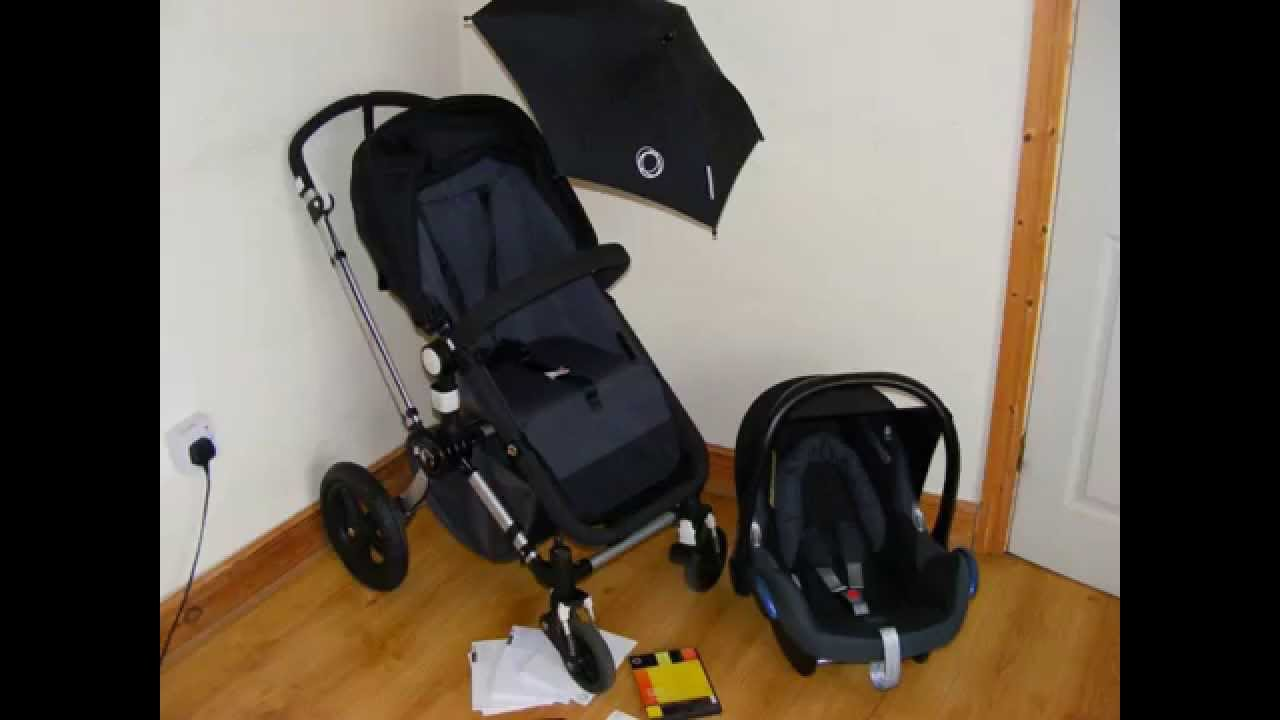 Bugaboo Cameleon 3 >> Bugaboo Cameleon 2nd.generation all black with maxi cosi cabriofix car seat - YouTube