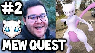 QUEST TO MEW #2 - Pokémon GO *RESEARCH* Gameplay & EX *MEWTWO RAID* IN POKEMON GO!