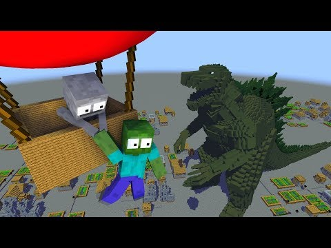 Monster School : GODZILLA - Minecraft Animation