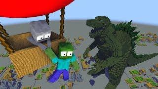 Monster School : GODZILLA - Minecraft Animation