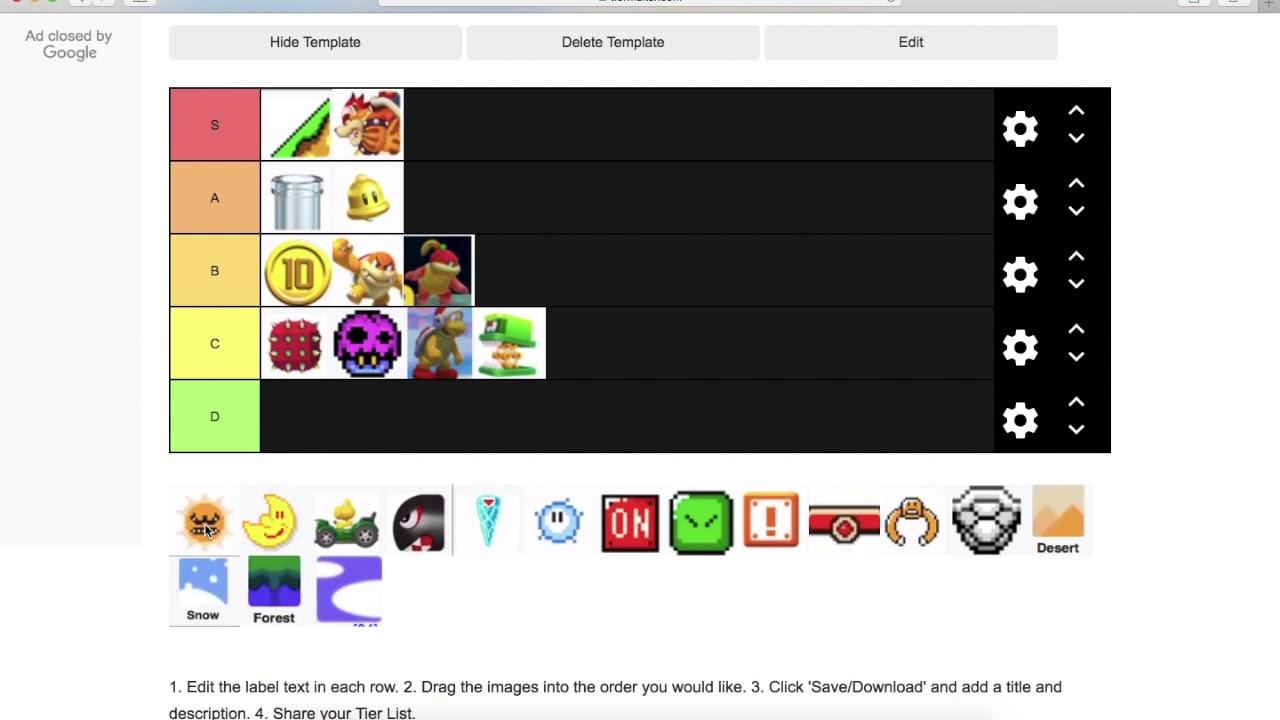 Super Mario Maker 2 Tier List Youtube
