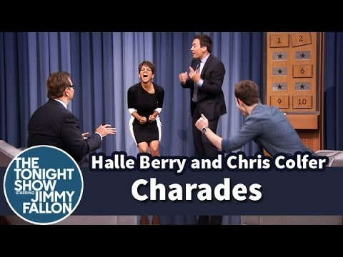 Charades with Halle Berry and Chris Colfer - Part 2