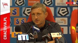 Trener Grzegorz Kurdziel po meczu z Jagiellonią (14.09.18)