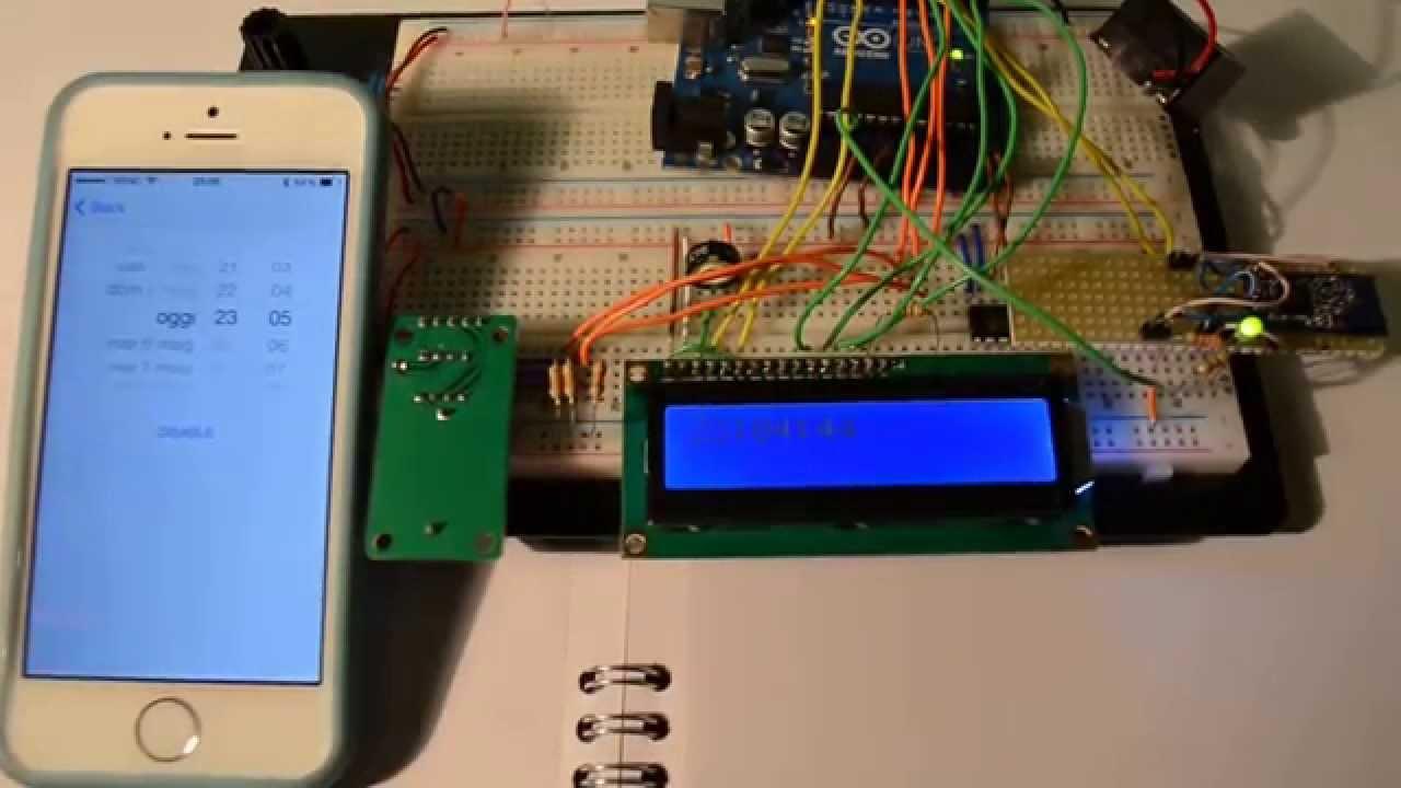 Smart Alarm Clock Arduino Bluetooth Iphone 5s Youtube