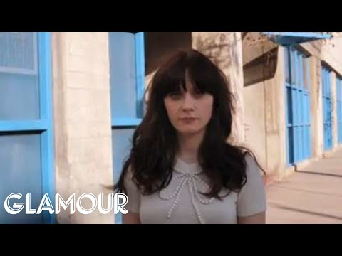 Zooey Deschanel Gives Us The Scoop On Her Quirky Wardrobe on the New Girl  Glamour Celebs
