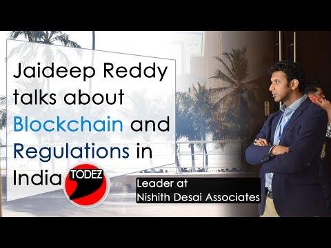 Jaideep Reddy The Leader Of Nishith Desai Associates Talks About #Blockchain At #BlockMumbai