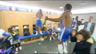 Didier Drogba Dressing Room Celebrations