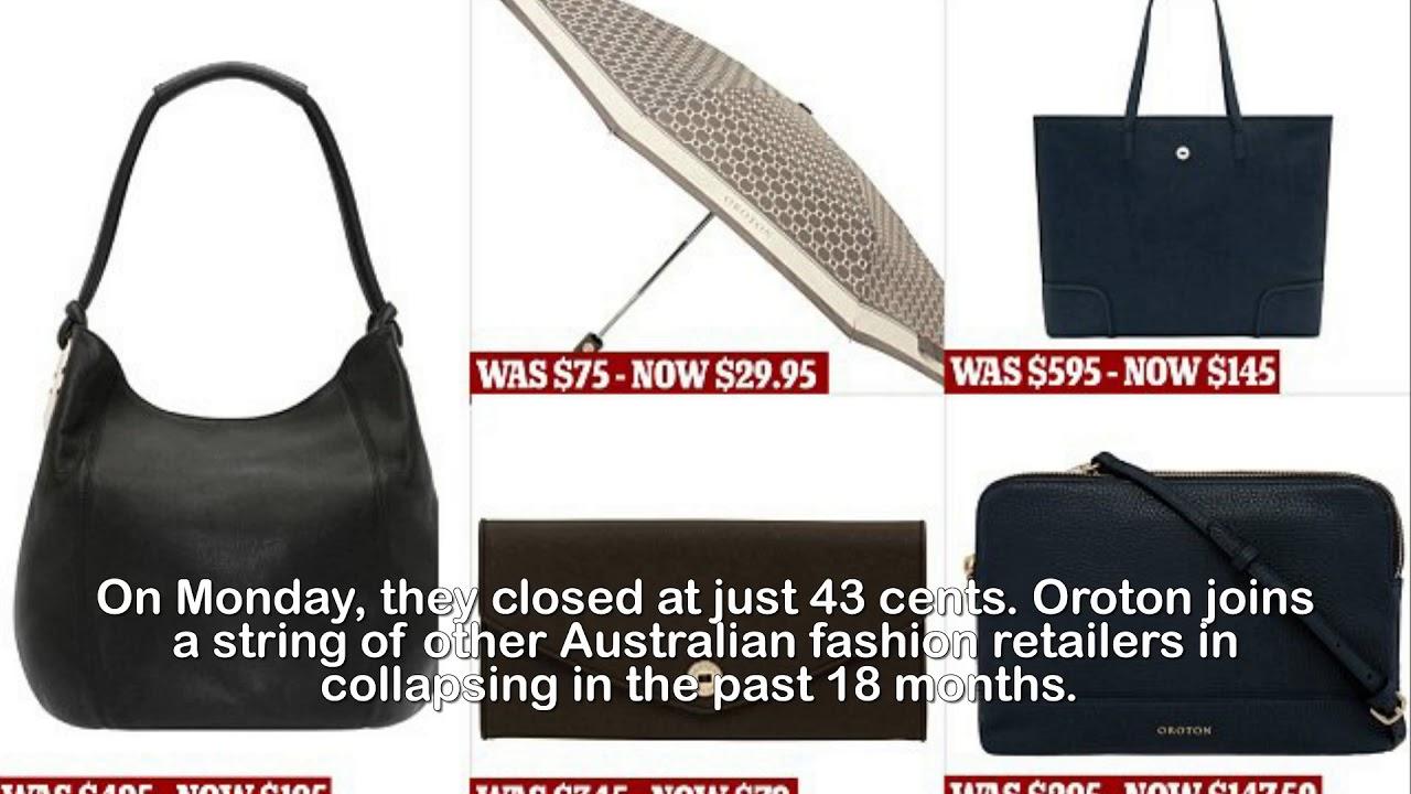 Oroton launches sale as store announces  14million losses - YouTube 35e68e8807d3c