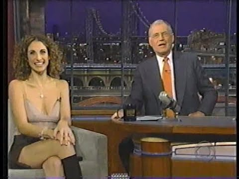 Melina Kanakaredes  David Letterman 102004