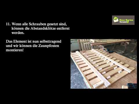 bauanleitung holz zaunelemente haus garten versand youtube. Black Bedroom Furniture Sets. Home Design Ideas