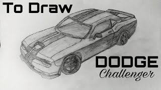 how to draw DODGE Challenger!!fast and quick!!