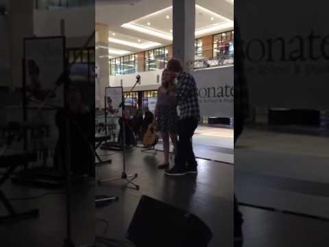 Ed sheeran surprises a fan when she is singing Thinking out loud