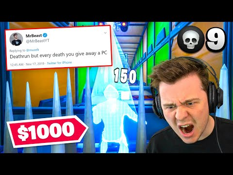 So MrBeast Challenged Me! 1 Death = Giveaway $1000