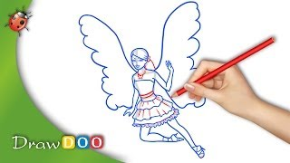 Barbie Fairy from Barbie a Fairy Secret Drawing Tutorial